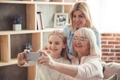 Κόρη, mom και γιαγιά Στοκ φωτογραφία με δικαίωμα ελεύθερης χρήσης