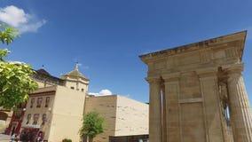 Κόρδοβα, Ανδαλουσία, Ισπανία, στις 20 Απριλίου 2016: Puerta del Puente απόθεμα βίντεο