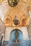Κόρδοβα - ο mudejar στόκος και επικεράμωση Capilla SAN Bartolome στο παρεκκλησι στοκ εικόνα