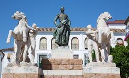 Κόρδοβα - το μνημείο σε Manolete Plaza del Conde de Priego στην πλατεία Στοκ εικόνα με δικαίωμα ελεύθερης χρήσης