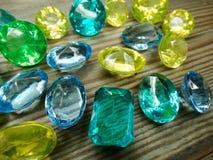Κόσμημα διαμαντιών σαπφείρου κρυστάλλων πολύτιμων λίθων Στοκ Φωτογραφίες