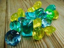 Κόσμημα διαμαντιών σαπφείρου κρυστάλλων πολύτιμων λίθων Στοκ εικόνες με δικαίωμα ελεύθερης χρήσης