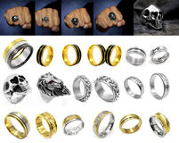 Κόσμημα - μεγάλο σύνολο δαχτυλιδιών Στοκ φωτογραφία με δικαίωμα ελεύθερης χρήσης