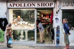 Κόσμημα πώλησης καταστημάτων Apollon στους Δελφούς, Ελλάδα Στοκ εικόνα με δικαίωμα ελεύθερης χρήσης