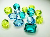 Κόσμημα σαπφείρου κρυστάλλων πολύτιμων λίθων diamons Στοκ εικόνα με δικαίωμα ελεύθερης χρήσης