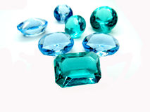 Κόσμημα σαπφείρου κρυστάλλων πολύτιμων λίθων diamons Στοκ εικόνες με δικαίωμα ελεύθερης χρήσης