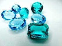 Κόσμημα σαπφείρου κρυστάλλων πολύτιμων λίθων diamons Στοκ Φωτογραφία