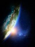 Κόσμος από το διάστημα Στοκ φωτογραφίες με δικαίωμα ελεύθερης χρήσης
