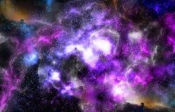 Κόσμος αστεριών υποβάθρου νεφελώματος στοκ εικόνες