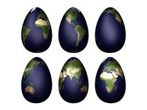 κόσμος αυγών Στοκ Εικόνα