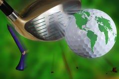 κόσμος γκολφ στοκ φωτογραφία
