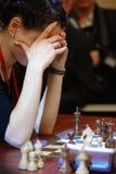 κόσμος γυναικών σκακιού ko Στοκ Φωτογραφίες