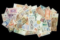 κόσμος εγγράφου χρημάτων Στοκ Φωτογραφία