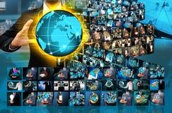 Κόσμος εκμετάλλευσης επιχειρηματιών Στοκ εικόνες με δικαίωμα ελεύθερης χρήσης
