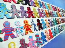 κόσμος ενότητας ανθρώπων ποικιλομορφίας Στοκ Εικόνα