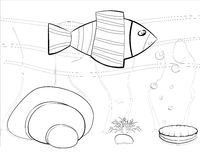 Κόσμος θάλασσας κινούμενων σχεδίων Στοκ Εικόνες