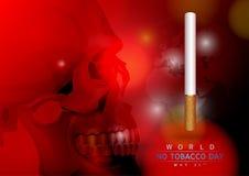 Κόσμος καμία ημέρα καπνών Στοκ Εικόνα