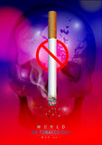 Κόσμος καμία ημέρα καπνών στοκ φωτογραφίες