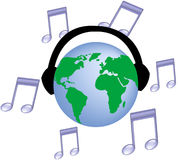 κόσμος μουσικής Στοκ Εικόνες