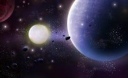 Κόσμος, περιοχή αστεριών διανυσματική απεικόνιση