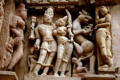 κόσμος περιοχών khajuraho της Ινδί&a Στοκ εικόνες με δικαίωμα ελεύθερης χρήσης