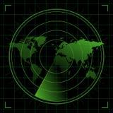 κόσμος ραντάρ Στοκ εικόνα με δικαίωμα ελεύθερης χρήσης
