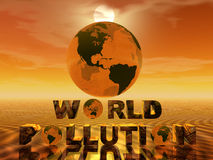 κόσμος ρύπανσης Στοκ Εικόνες