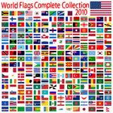 κόσμος σημαιών συλλογής Στοκ εικόνα με δικαίωμα ελεύθερης χρήσης