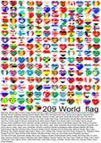κόσμος σημαιών Στοκ Εικόνα