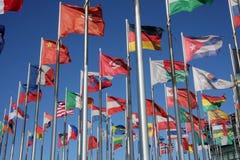 κόσμος σημαιών Στοκ Φωτογραφίες