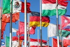κόσμος σημαιών Στοκ Εικόνες