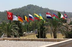κόσμος σημαιών Στοκ Φωτογραφία