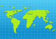 κόσμος σκιών χαρτών απεικόνισης διανυσματική απεικόνιση