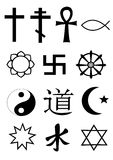 κόσμος συμβόλων θρησκεί&alph Στοκ Εικόνες