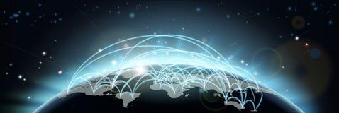 κόσμος ταξιδιού χαρτών επικοινωνιών