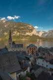 κόσμος της ΟΥΝΕΣΚΟ περιοχών κληρονομιάς της Αυστρίας hallstatt salzkammergut Στοκ Εικόνα