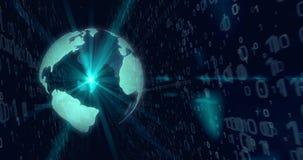 Κόσμος της ψηφιακής ζωτικότητας περιτύλιξης τεχνολογίας - που αφήνεται διανυσματική απεικόνιση