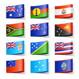 κόσμος της Ωκεανίας σημαιών Στοκ Φωτογραφίες