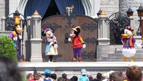 Κόσμος της Disney Walt Μαγικό βασίλειο Ορλάντο ΗΠΑ απόθεμα βίντεο