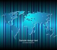 κόσμος χαρτών ανασκόπησης Στοκ Φωτογραφίες