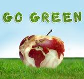 κόσμος χαρτών μήλων Στοκ εικόνες με δικαίωμα ελεύθερης χρήσης
