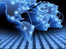 κόσμος χαρτών πληροφοριών Στοκ εικόνα με δικαίωμα ελεύθερης χρήσης