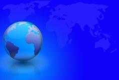 κόσμος χαρτών σφαιρών διανυσματική απεικόνιση