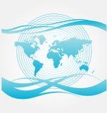 κόσμος χαρτών σχεδίου διανυσματική απεικόνιση