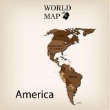 κόσμος χαρτών της Αμερική&sigmaf Στοκ Φωτογραφίες