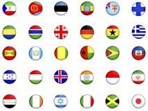 κόσμος 2 σημαιών Στοκ Εικόνες
