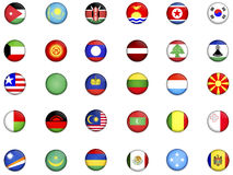 κόσμος 3 σημαιών Στοκ εικόνες με δικαίωμα ελεύθερης χρήσης