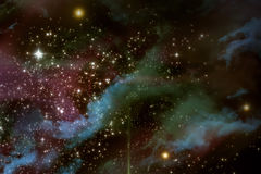 Κόσμος Starscape Στοκ εικόνες με δικαίωμα ελεύθερης χρήσης