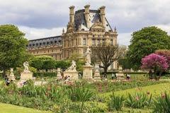 κόσμος tuileries απλαδιών του Παρισιού κληρονομιάς κήπων sitebanks Στοκ εικόνα με δικαίωμα ελεύθερης χρήσης