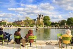 κόσμος tuileries απλαδιών του Παρισιού κληρονομιάς κήπων sitebanks Στοκ Φωτογραφία